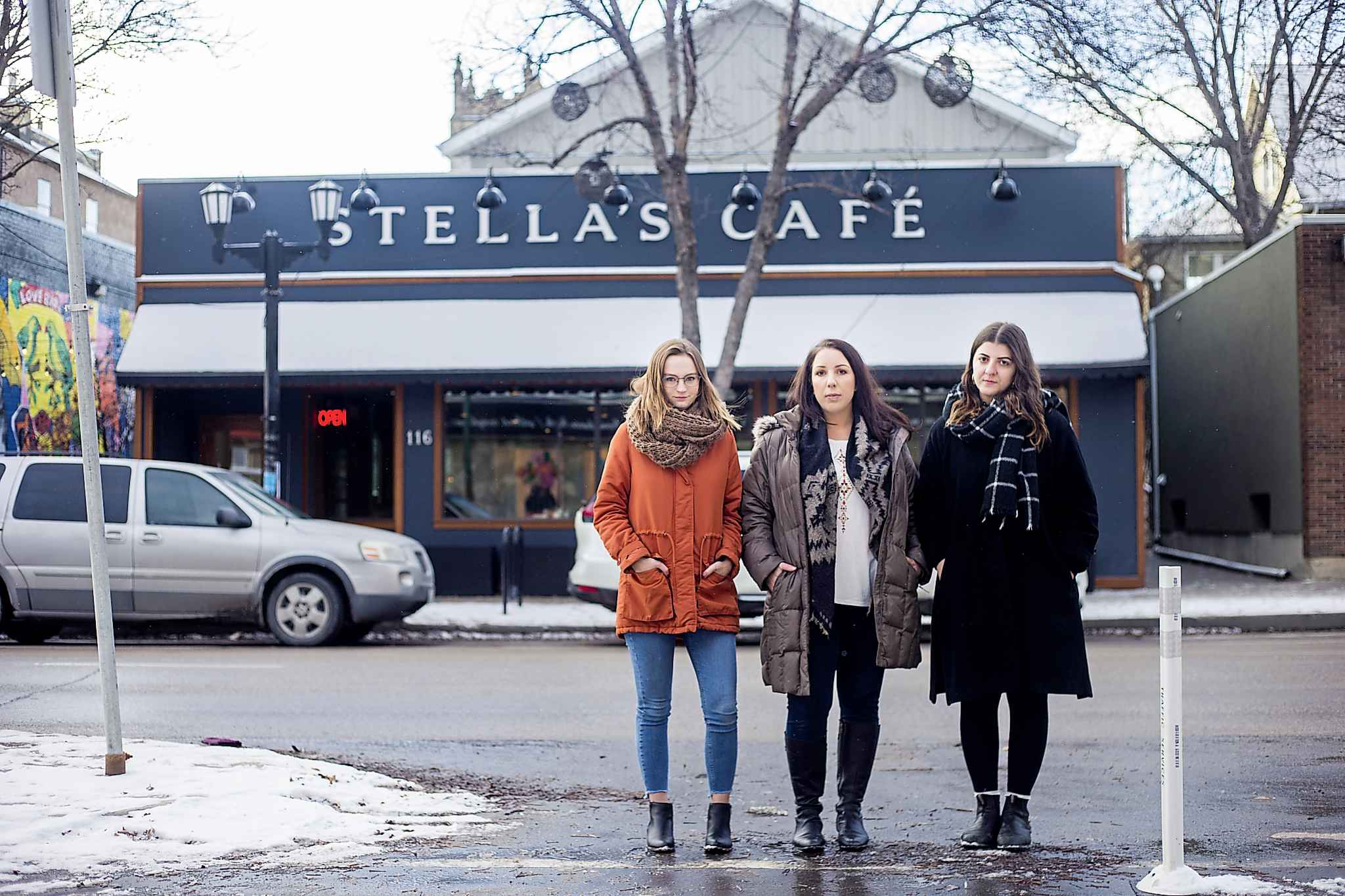 From left: Kelsey Wade, Amanda Murdock and Christina Hajjar are among several women who have come forward regarding a culture of harassment at Stella's restaurant.