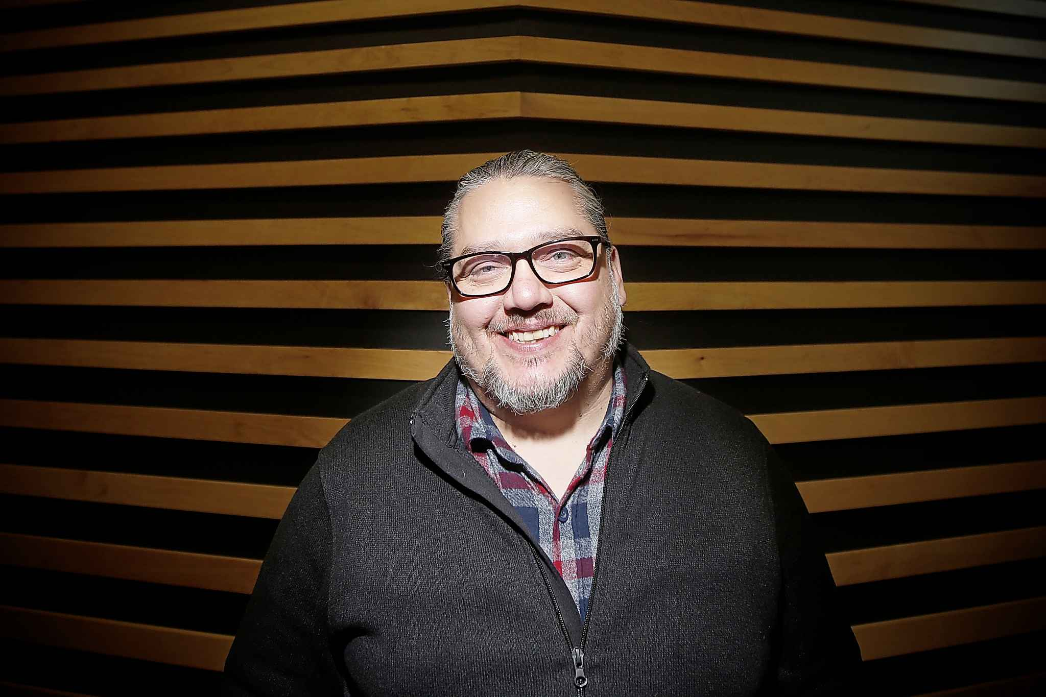 Tim Fontaine, founder of Walking Eagle News, is hosting a live event at the West End Cultural Centre on Nov. 29. (John Woods / Winnipeg Free Press)