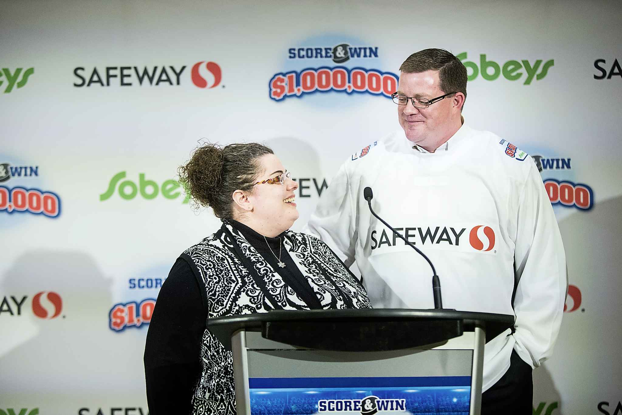 Karen Haley with her husband Christopher, who won the  $1M Score & Win contest.