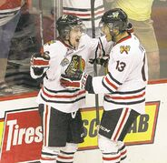 Winnipeger Brendan Leipsic (left) and Keegan Iverson have been a big part of Portland's success.
