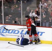 Mathieu Perreault will be back in the lineup after suffering an injury from a cross-check from   Blackhawks Daniel Carcillo on Jan. 16 in Chicago.