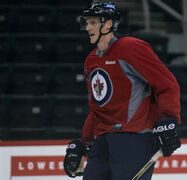 Winnipeg Jets defenceman Tyler Myers during practice Monday.