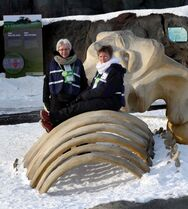Sisters Dale Hunt (left) and Jayne Sims volunteer at Assiniboine Park.