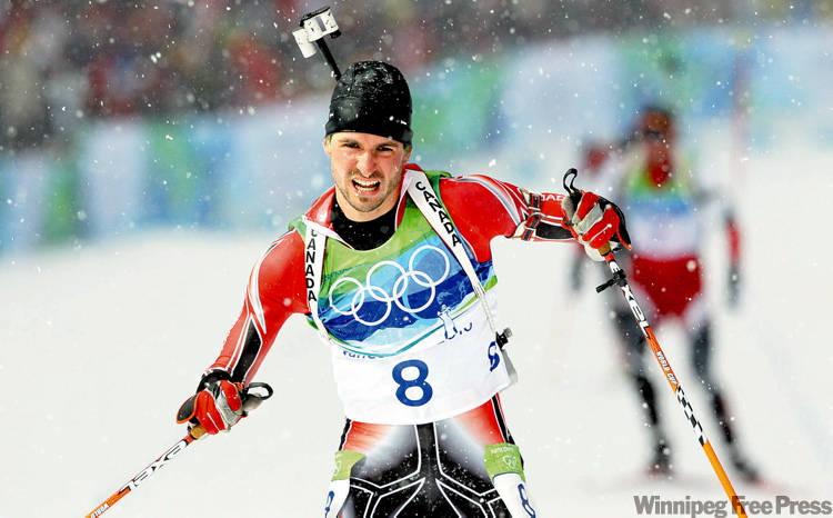 Canada's Jean-Phillippe Le Guellec finished the 10-kilometre biathlon sprint in sixth place, the best result by a Canadian man in the history of the sport.