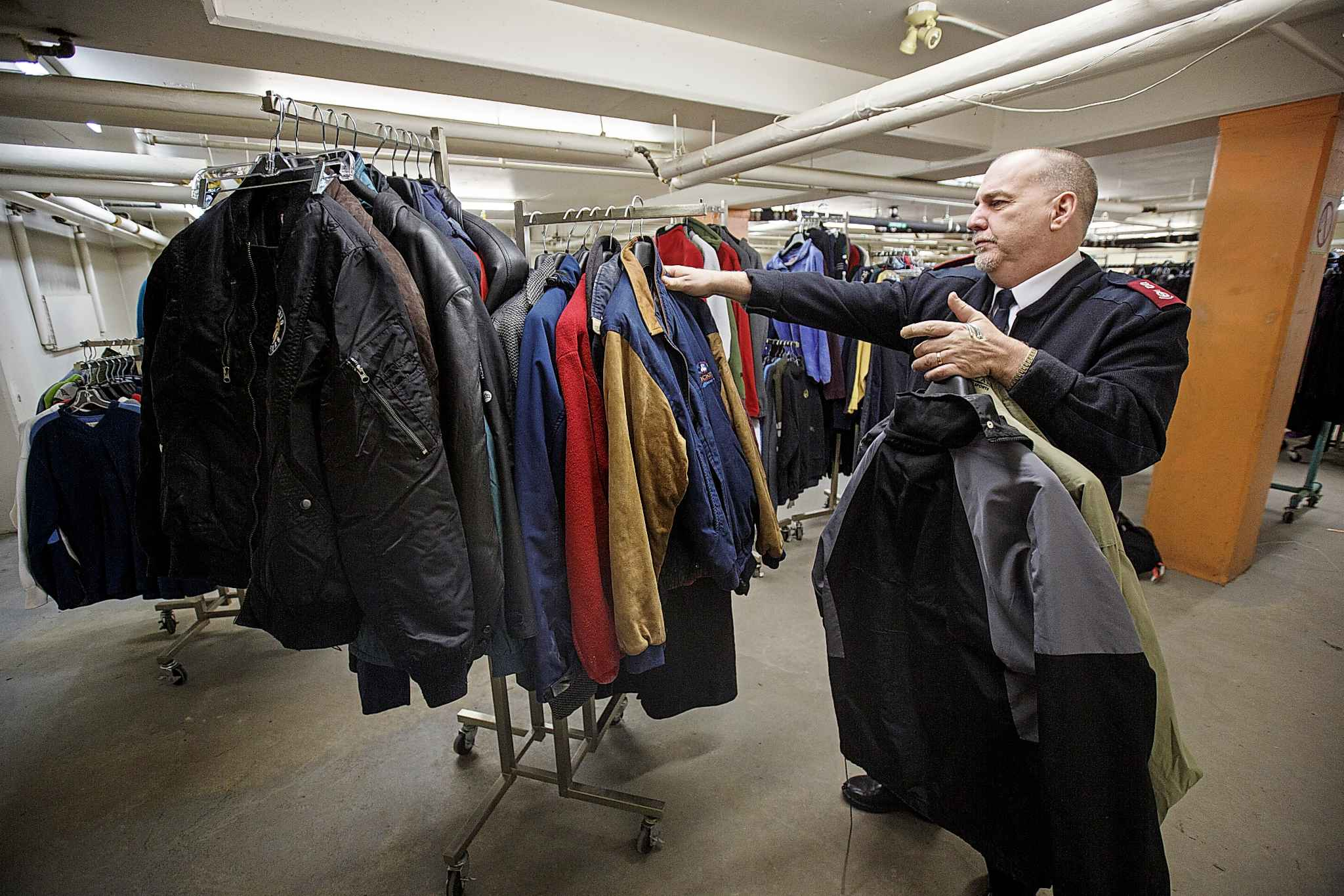 The Salvation Army also provides winter clothing. (Mike Deal / Winnipeg Free Press)
