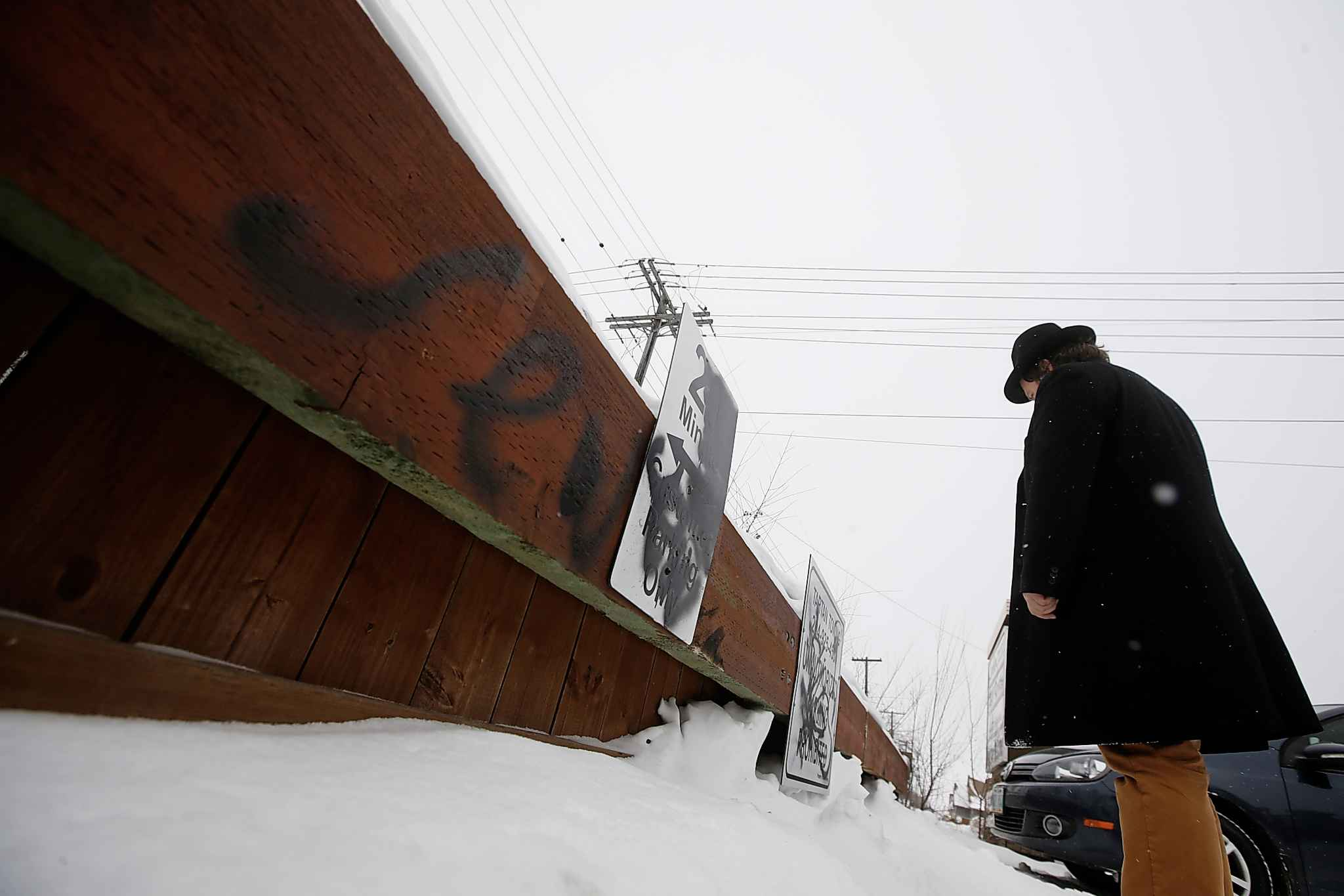 JOHN WOODS / WINNIPEG FREE PRESS</p><p>This is the second time in the last month Berent has been a victim of anti-Semitic graffiti. The police are investigating the incident as a hate crime.</p>
