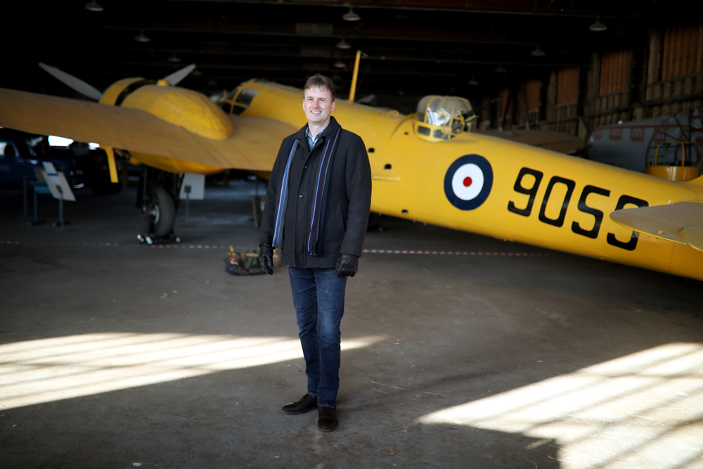 Commonwealth Air Training Plan Museum executive director Stephen Hayter has been with the museum for 20 years. (Tim Smith/The Brandon Sun)
