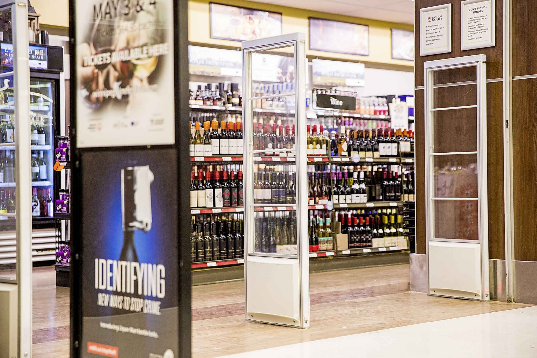 Active alarm systems have been installed at the St. James Superstore Liquor Mart outlet. (Mikaela MacKenzie / Winnipeg Free Press files)