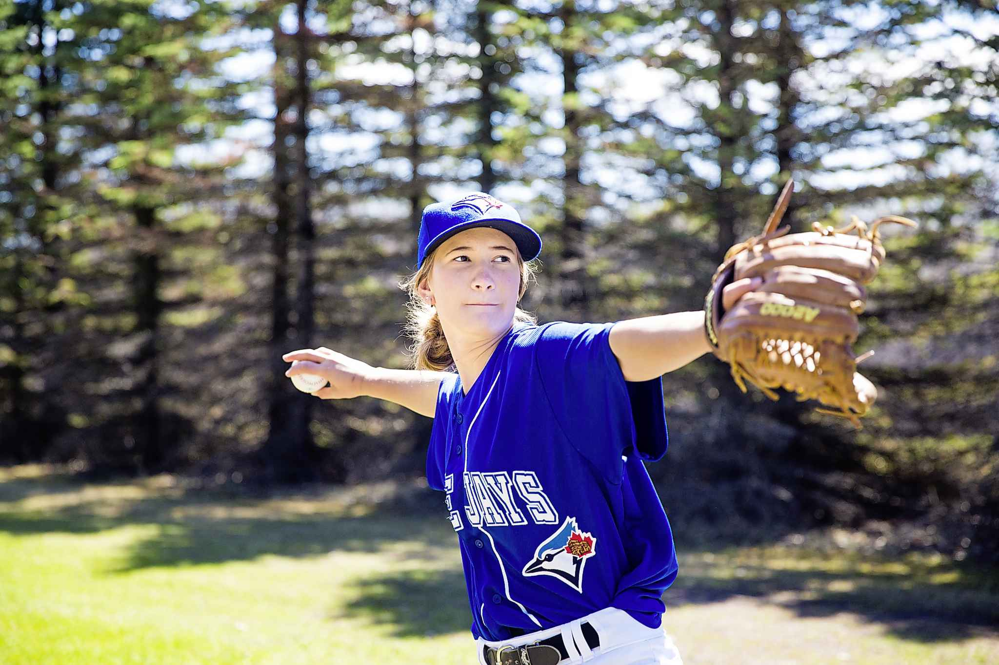 Brittney Langlais is expected to make history this weekend as the first woman to play in the Manitoba Junior Baseball League's 43-year history. MIKAELA MACKENZIE / WINNIPEG FREE PRESS