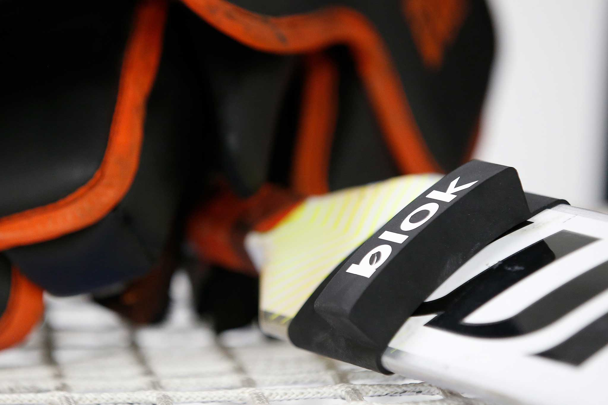 The Blok is designed to protect goaltenders' fingers. (John Woods / Winnipeg Free Press)