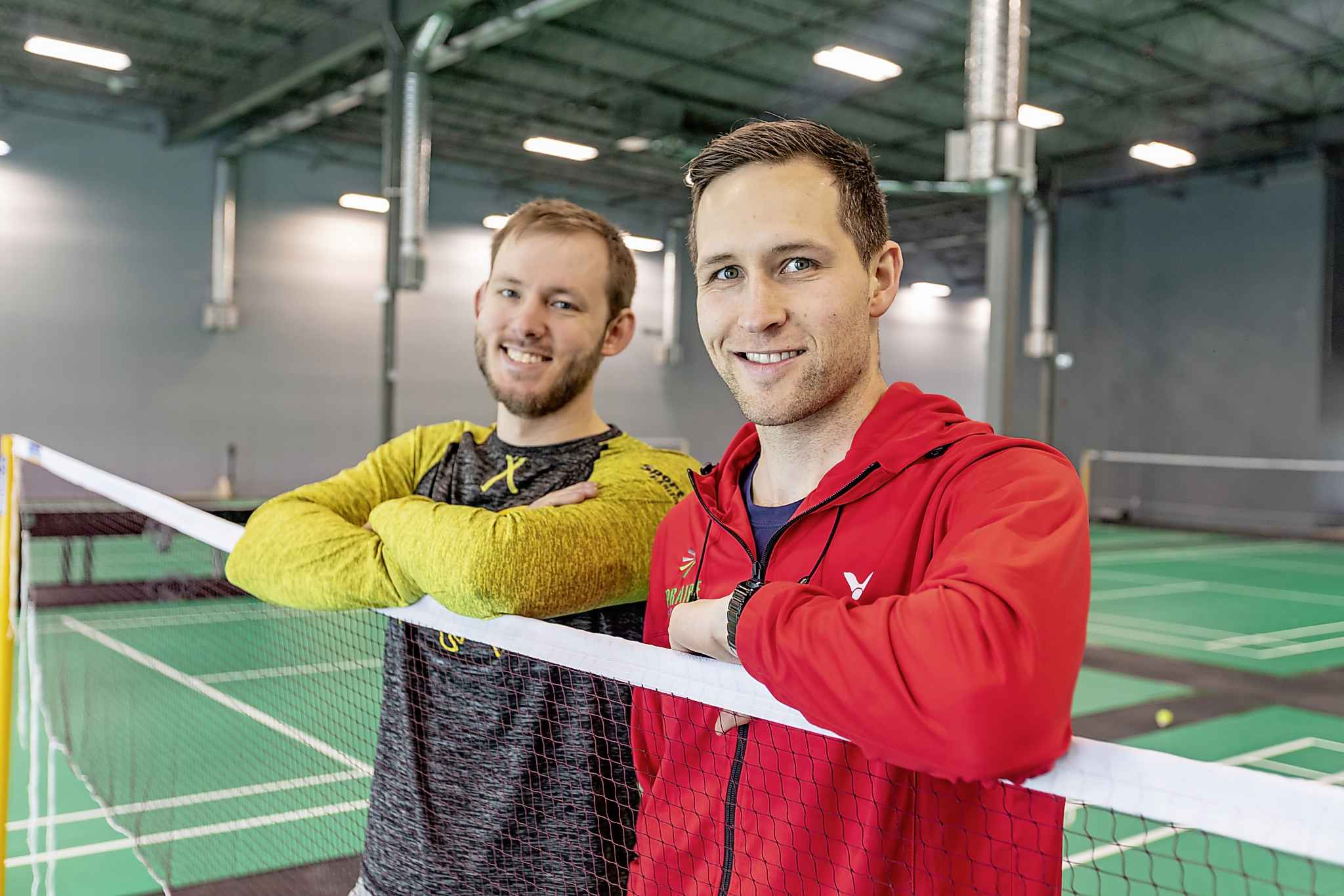 Provincial Coach Justin Friesen (left) and Executive Director Ryan Giesbrecht believe people will come to their new facility dedicated only to badminton. (Photos by Sasha Sefter / Winnipeg Free Press)