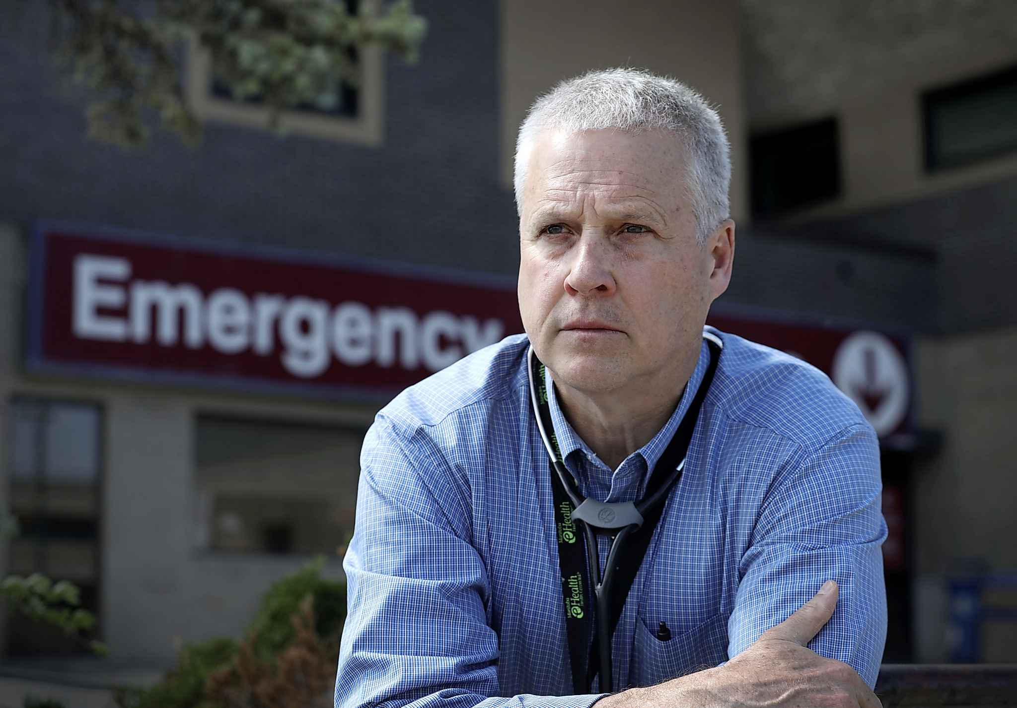 St. Boniface ER Paul Doucet said staff were at 'a critical state in the emergency department' on Wednesday morning.