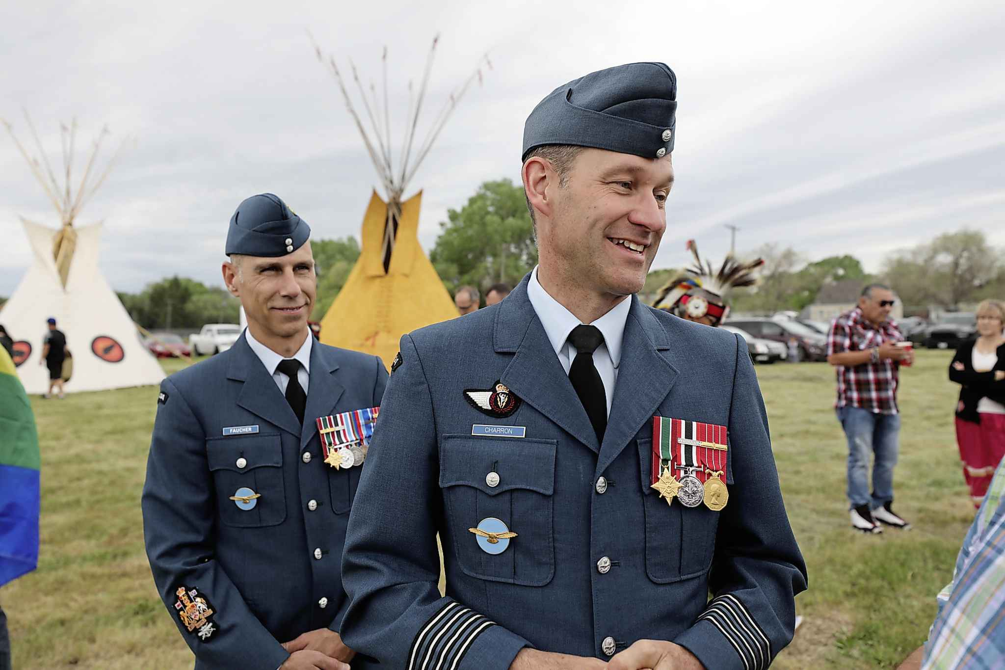 Col. Charron attends the celebration ceremony for National Indigenous Peoples Day at Kapyong Barracks in June. (Ruth Bonneville / Winnipeg Free Press files)
