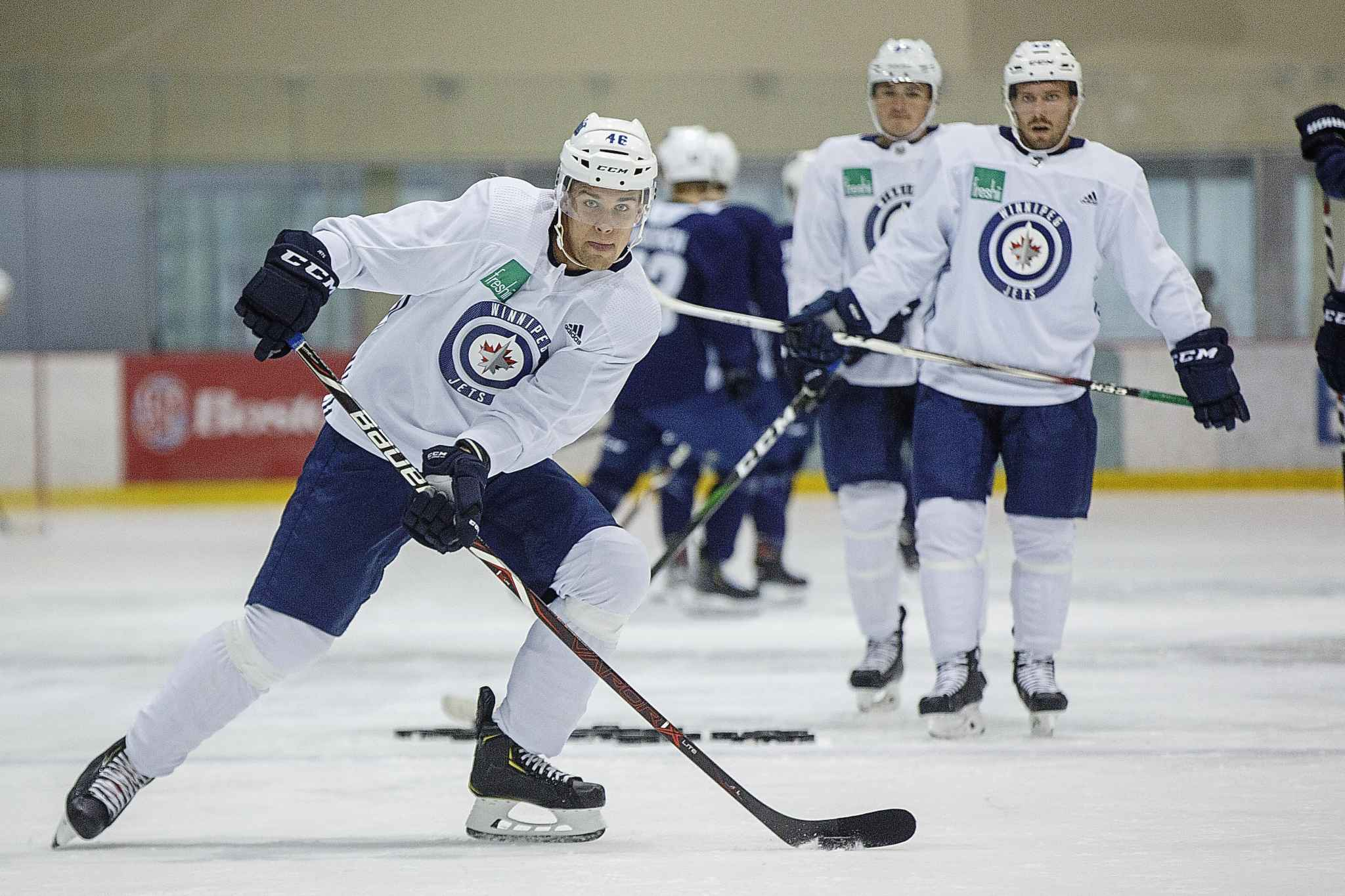 MIKE DEAL / WINNIPEG FREE PRESS FILES</p><p>Winnipeg Jets' Joona Luoto has demonstrated a gritty, hard-charging performance over four days on the ice.</p>