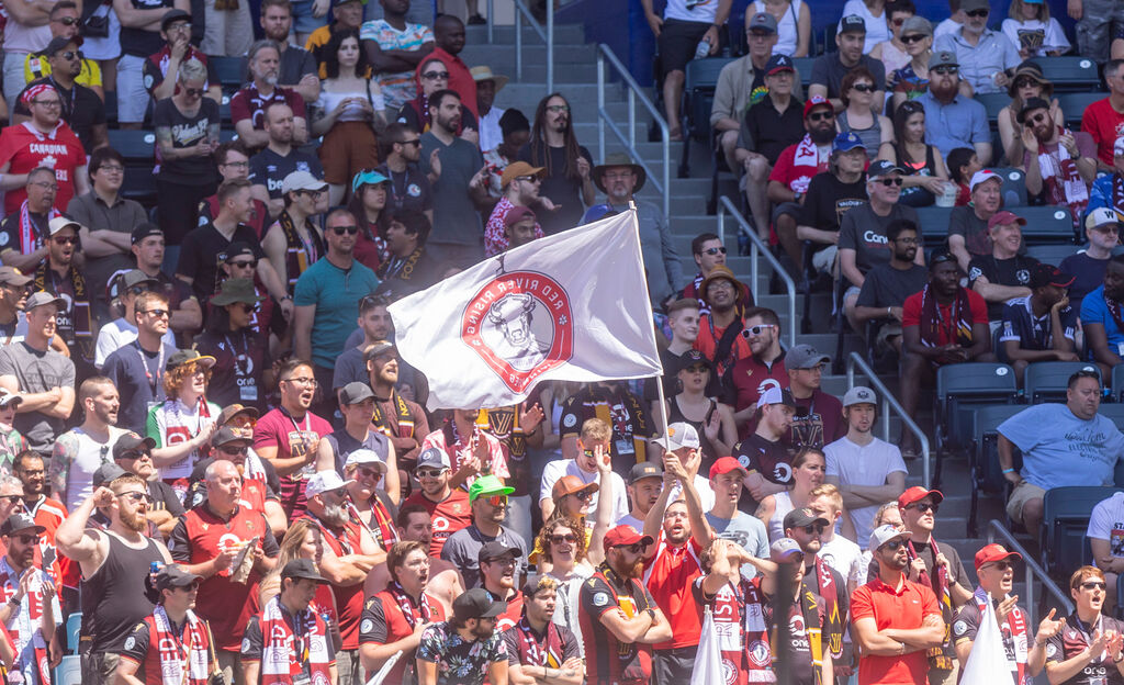 Only 2,000 spectators will be permitted into the stadium to watch Valour FC. (Sasha Sefter / Winnipeg Free Press files)