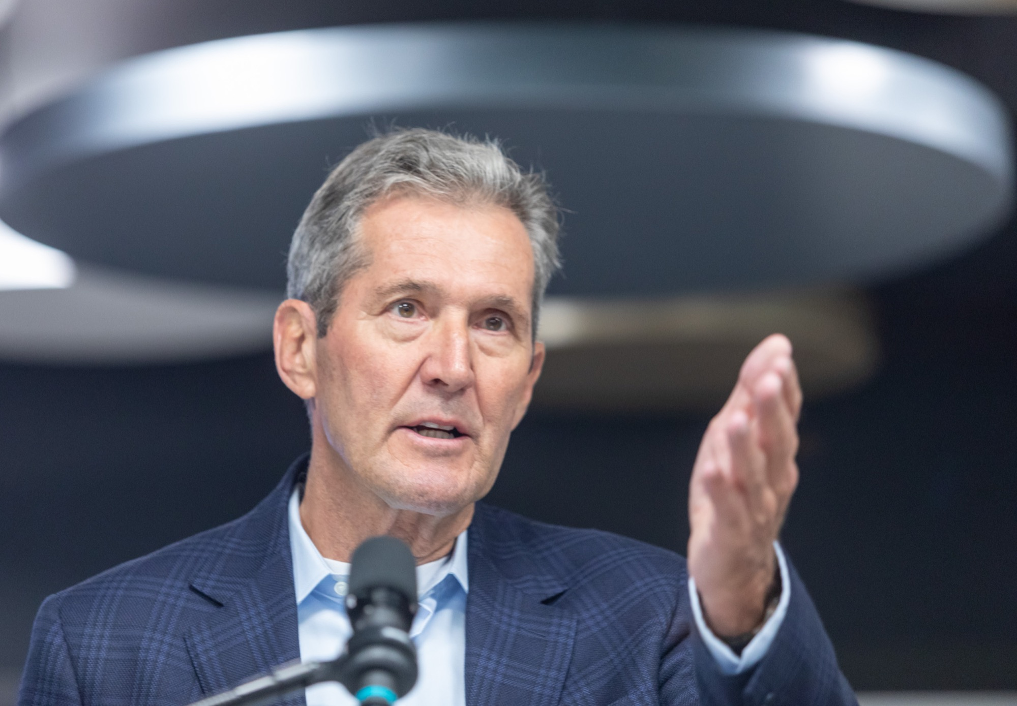 """SASHA SEFTER / WINNIPEG FREE PRESS FILES</p><p>""""At some point, Manitobans are going to retire me, whether I like it or not, and that's what goes with politics,"""" Manitoba PC Party Leader Brian Pallister said.</p>"""