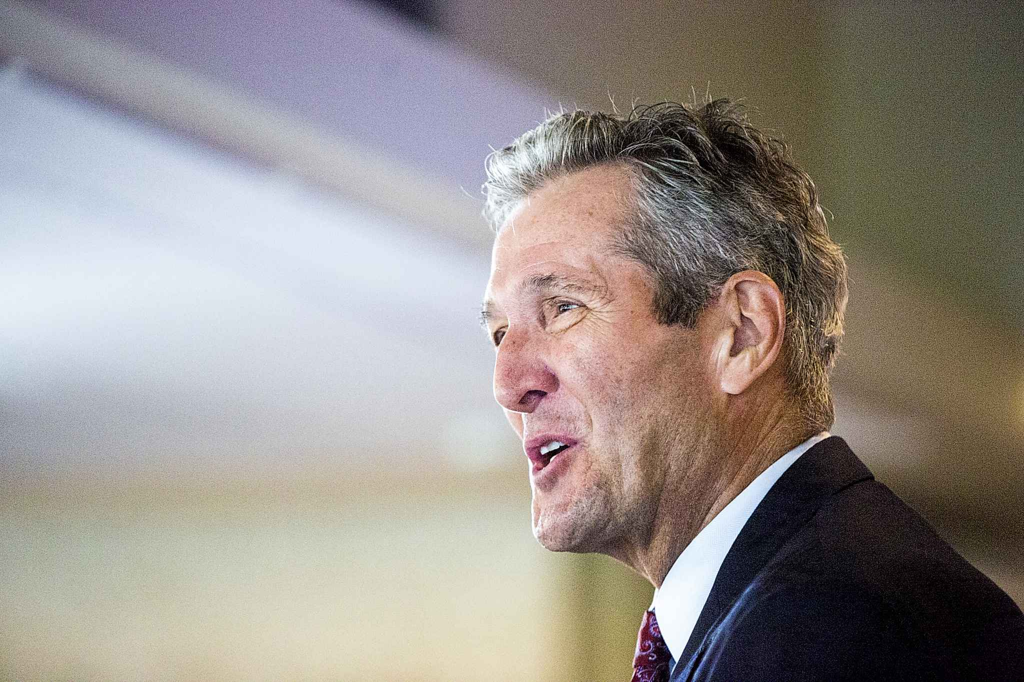 MIKAELA MACKENZIE / WINNIPEG FREE PRESS <p/>  Progressive Conservative Leader Brian Pallister leads a party that appears in favour of privatizing car insurance in Manitoba.