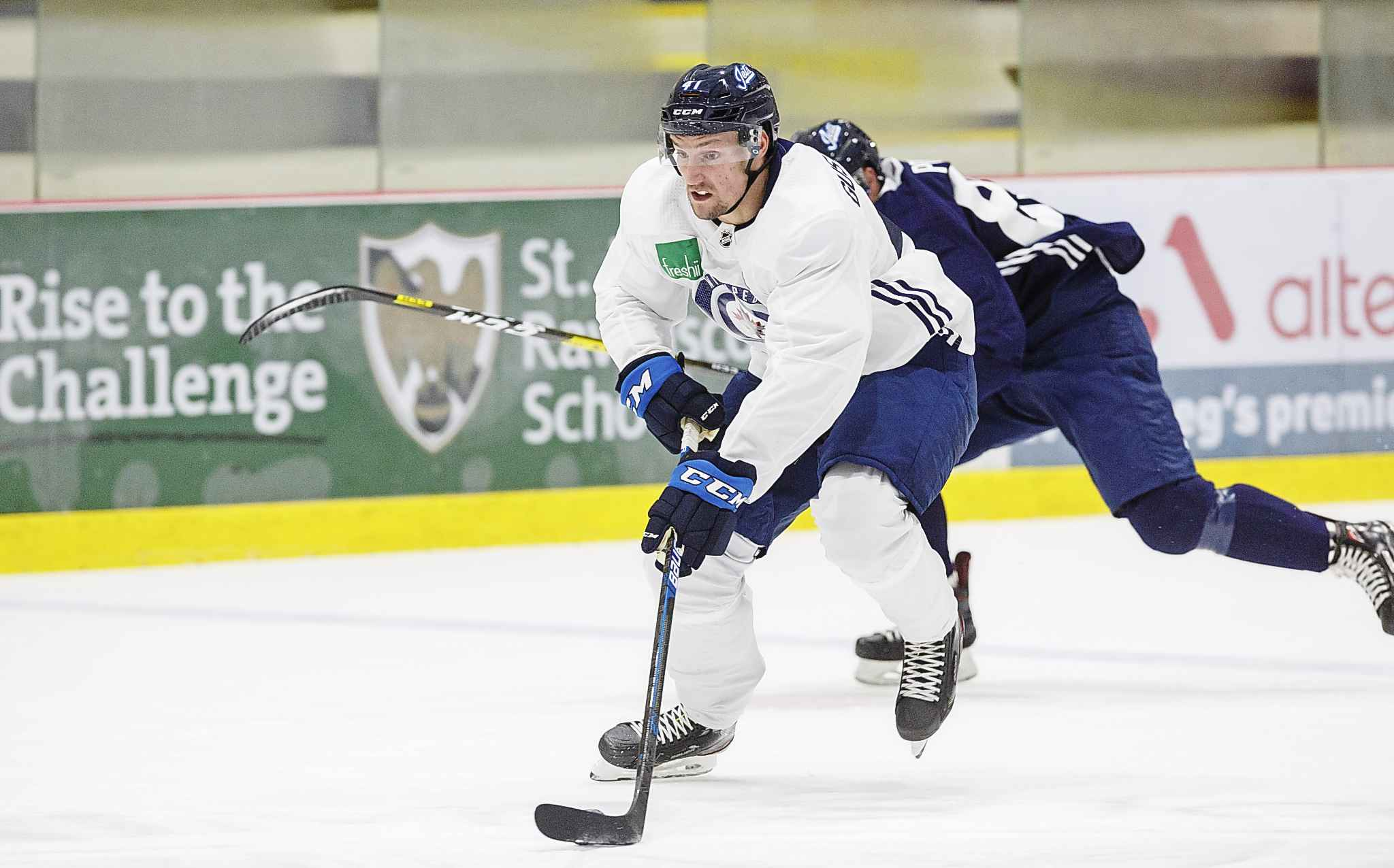 MIKE DEAL / WINNIPEG FREE PRESS <p/> Gustafsson has earned comparisons to another late Jets draft pick: Adam Lowry.