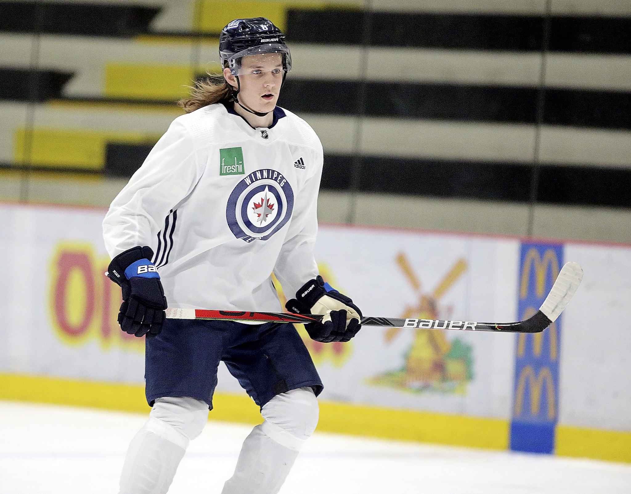 JASON HALSTEAD / WINNIPEG FREE PRESS <p/> Defenceman Sami Niku is possibly the best candidate to make a full-time jump from the Moose, but how well will he fill holes left by the departures of Tyler Myers, Ben Chiarot or Jacob Trouba?