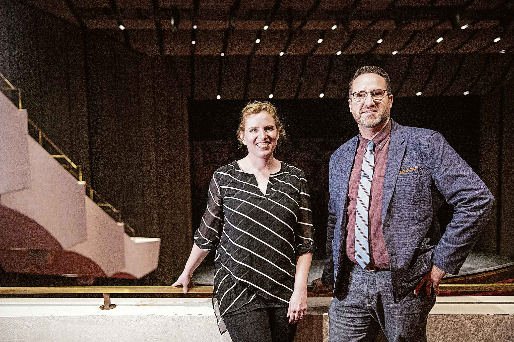 Michelle Yaciuk of Prelude Music and Brent Johnson of the WSO have teamed up to make WSO performances accesssible to those with sensory processing differences. (Mikaela MacKenzie / Winnipeg Free Press)