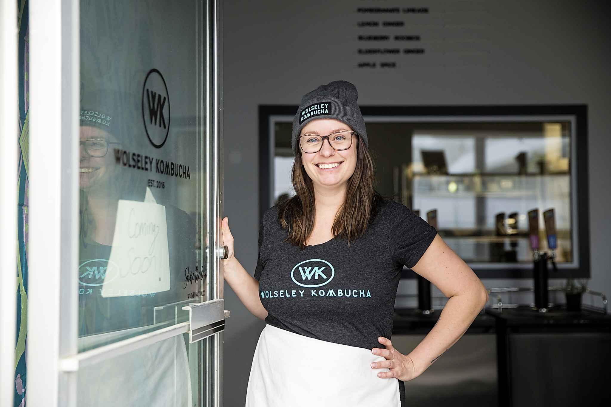 The zoning on Wall will allow Michelle Leclair's business to both brew and serve kombucha with significantly less overhead. (Mikaela MacKenzie / Winnipeg Free Press)