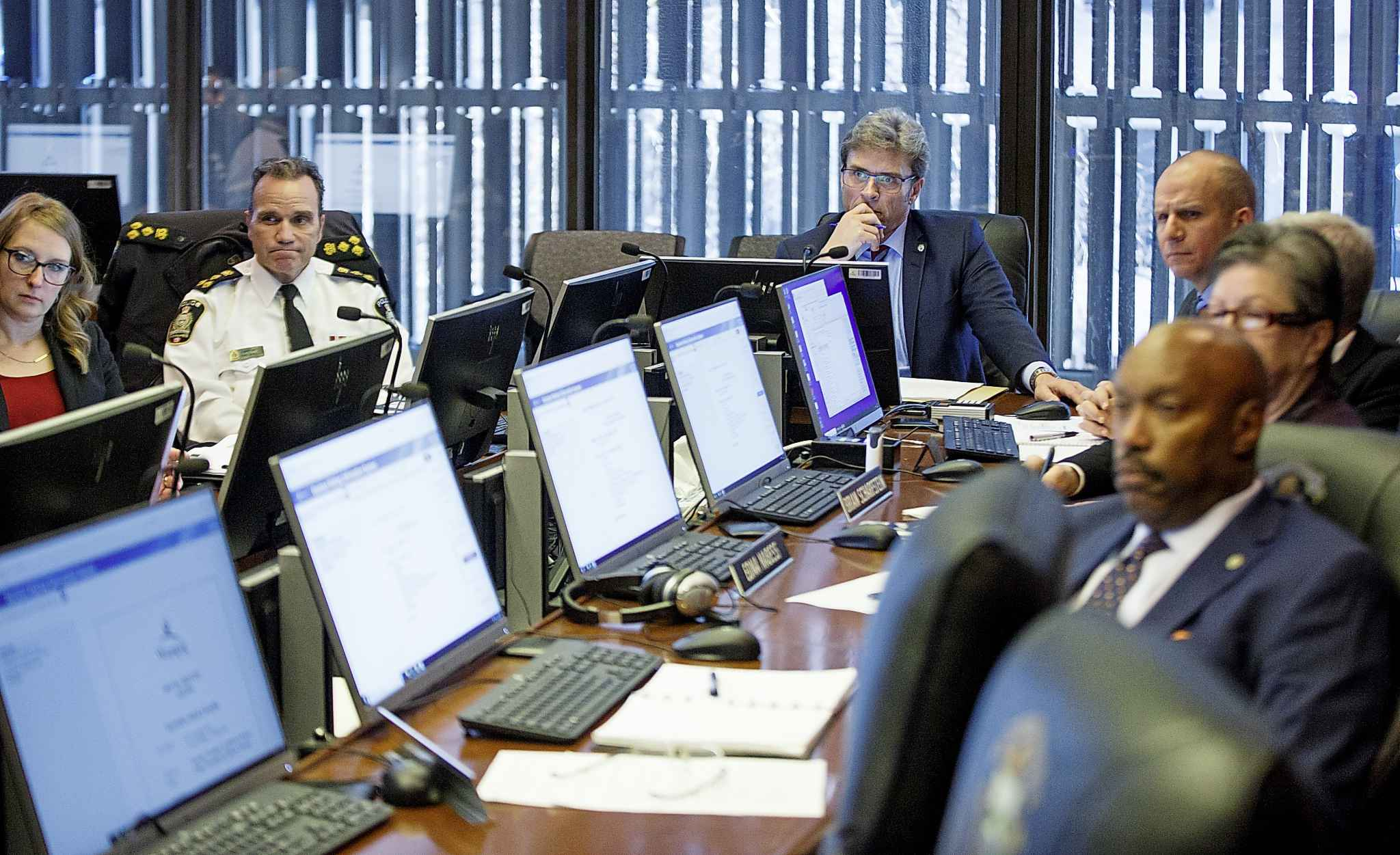 The Winnipeg Police Board in November heard presentations from the public on proposed cuts to the police service. (Mike Deal / Winnipeg Free Press files)