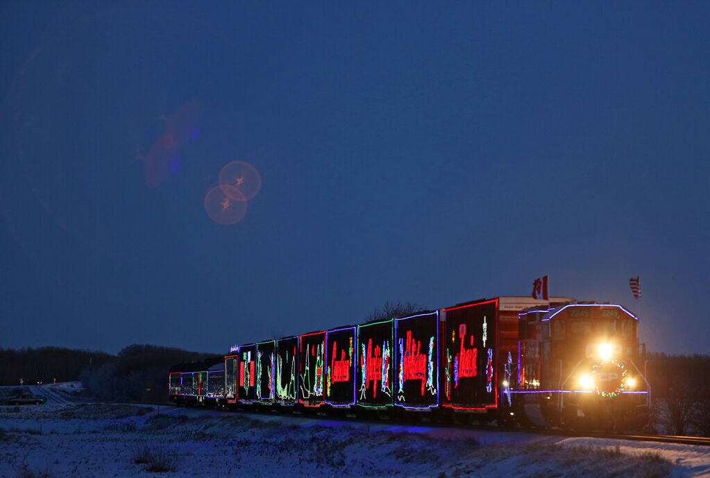 The CP Holiday Train has raised more than $19 million and 4.8 million pounds of food for Canadian food banks since 1999. (Tim Smith / The Brandon Sun files)