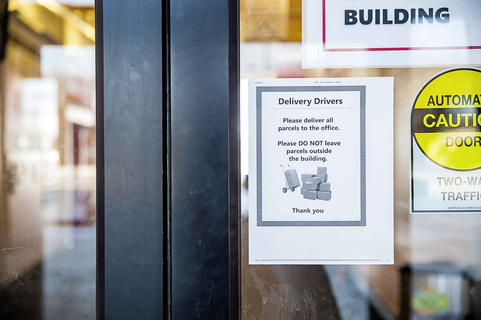 Sturgeon Heights Community Centre began accepting  packages for pickup last month as part of a safe package delivery program. The parcel service started in response to growing concern about so-called porch pirates — thieves who stalk Canada Post trucks and snag packages from doorsteps. (Mikaela MacKenzie / Winnipeg Free Press)