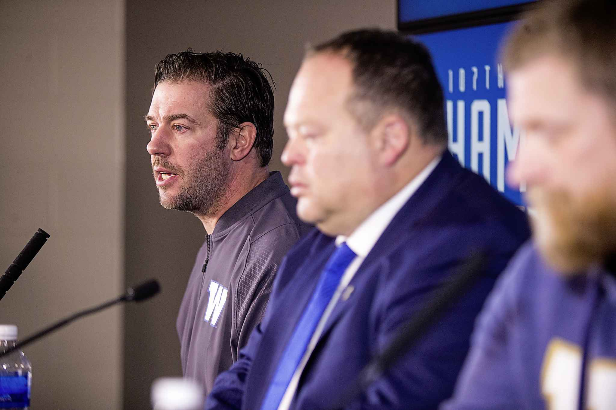 Winnipeg Blue Bombers GM Kyle Walters (left) will have to figure out a way to keep the majority of the team intact, while also filling several major holes left by players who have moved on to the NFL. (Mikaela MacKenzie / Free Press files)