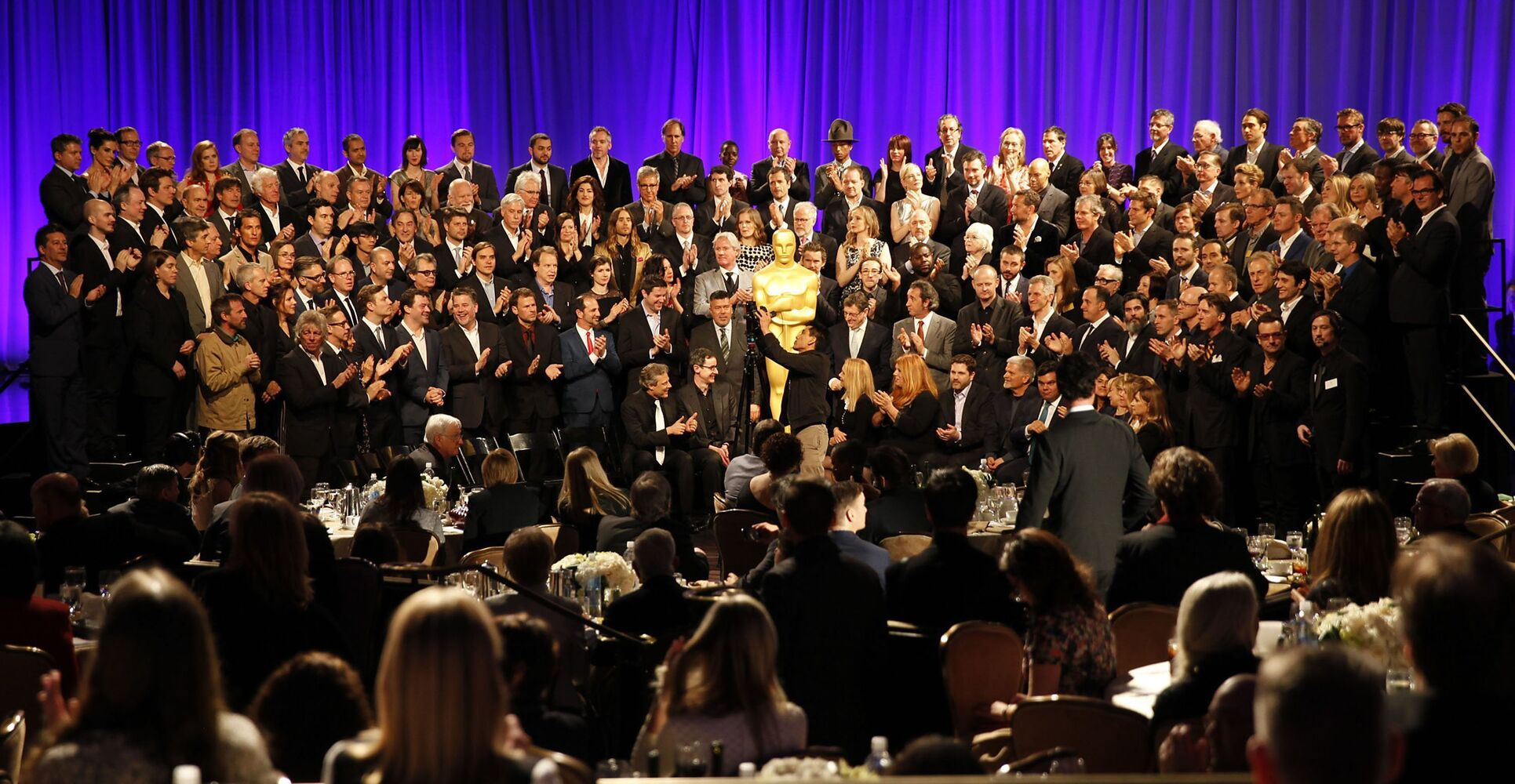 The 2014 class portrait at the 86th Annual Oscar Nominees Luncheon.  (Robert Gauthier / Los Angeles Times)