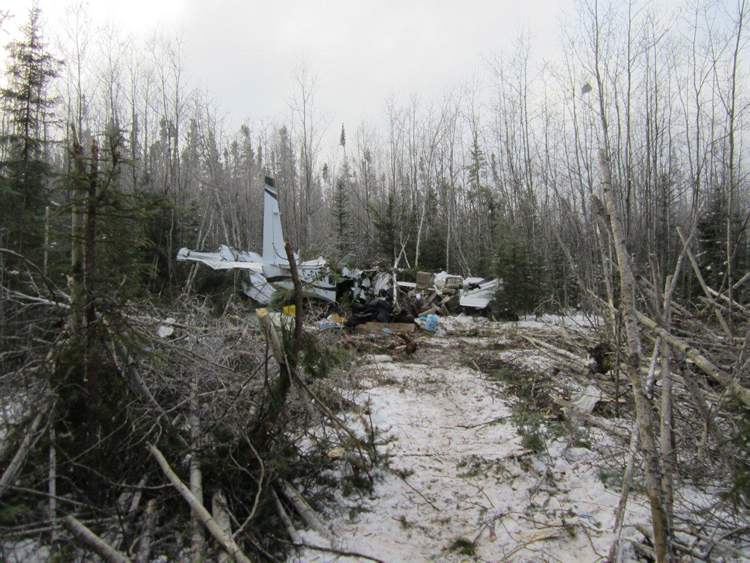 The Cessna 208 Caravan had just left Snow Lake and was on its way to Winnipeg when it crashed about 10 a.m. Sunday. (Transportation Safety Board of Canada)
