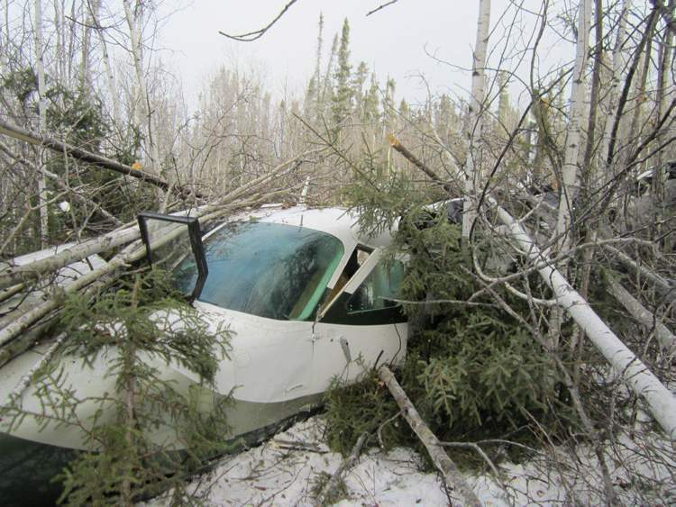 Seven passengers are in stable condition in hospitals in Winnipeg and northern Manitoba today after a plane crash in Snow Lake on Sunday.  (Transportation Safety Board of Canada)
