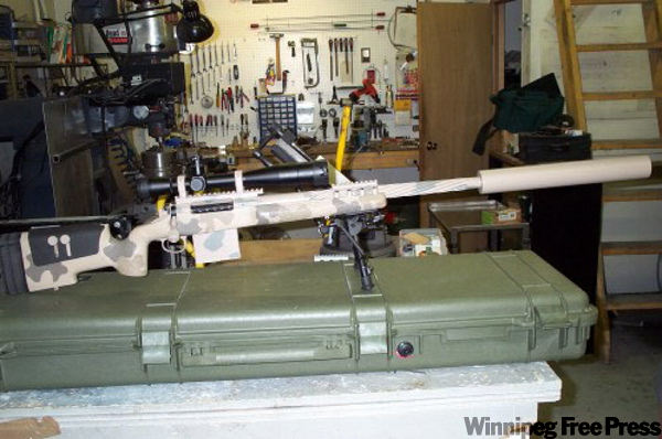 Sniper weapons systems such as this sell, on average, for $10,000 per gun.