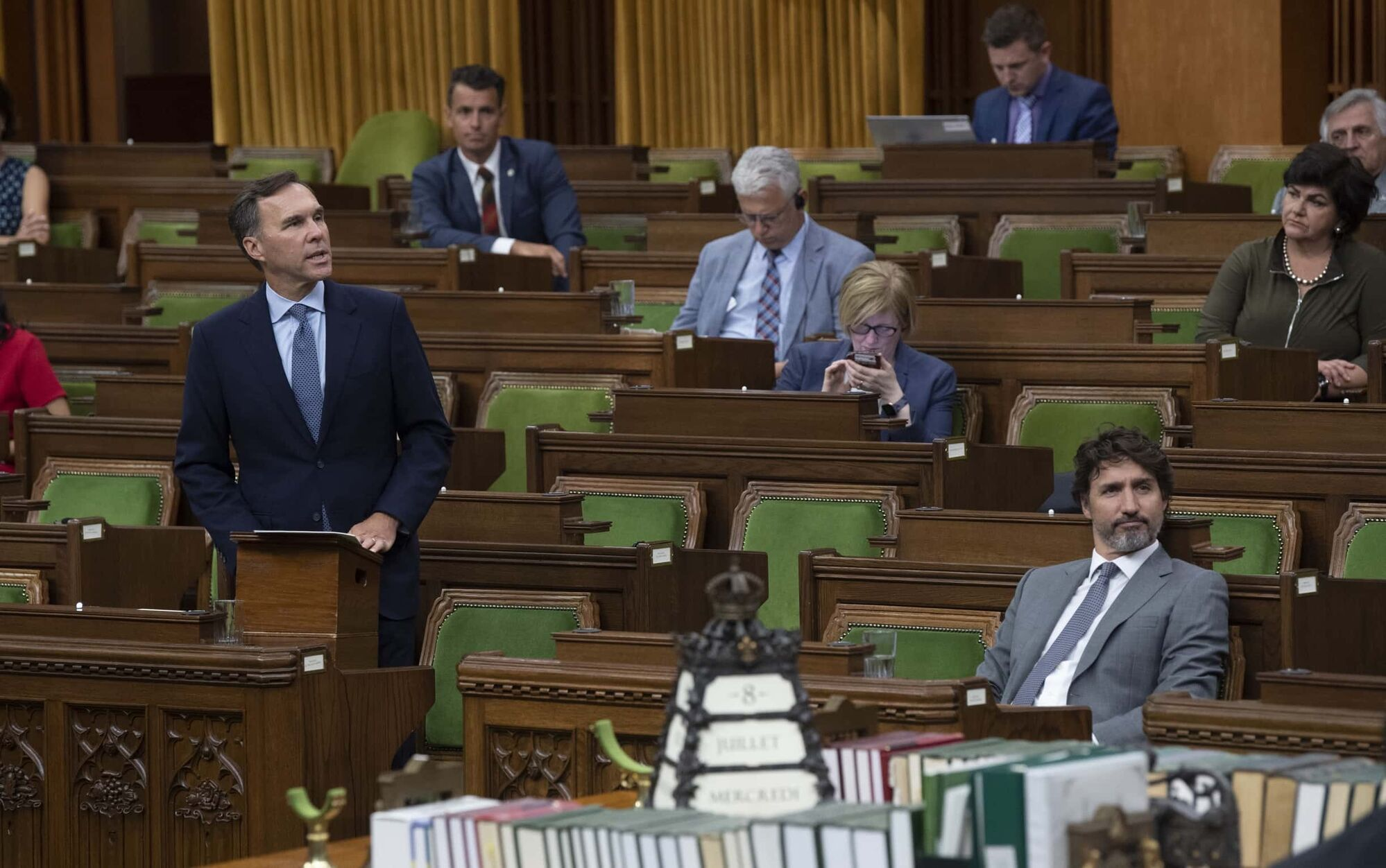 Both Finance Minster Bill Morneau (left) and Prime Minister Justin Trudeau (right) have shown a level of ethical unmooring and personal entitlement that brings their fitness for office into question. (Adrian Wyld / The Canadian Press files)