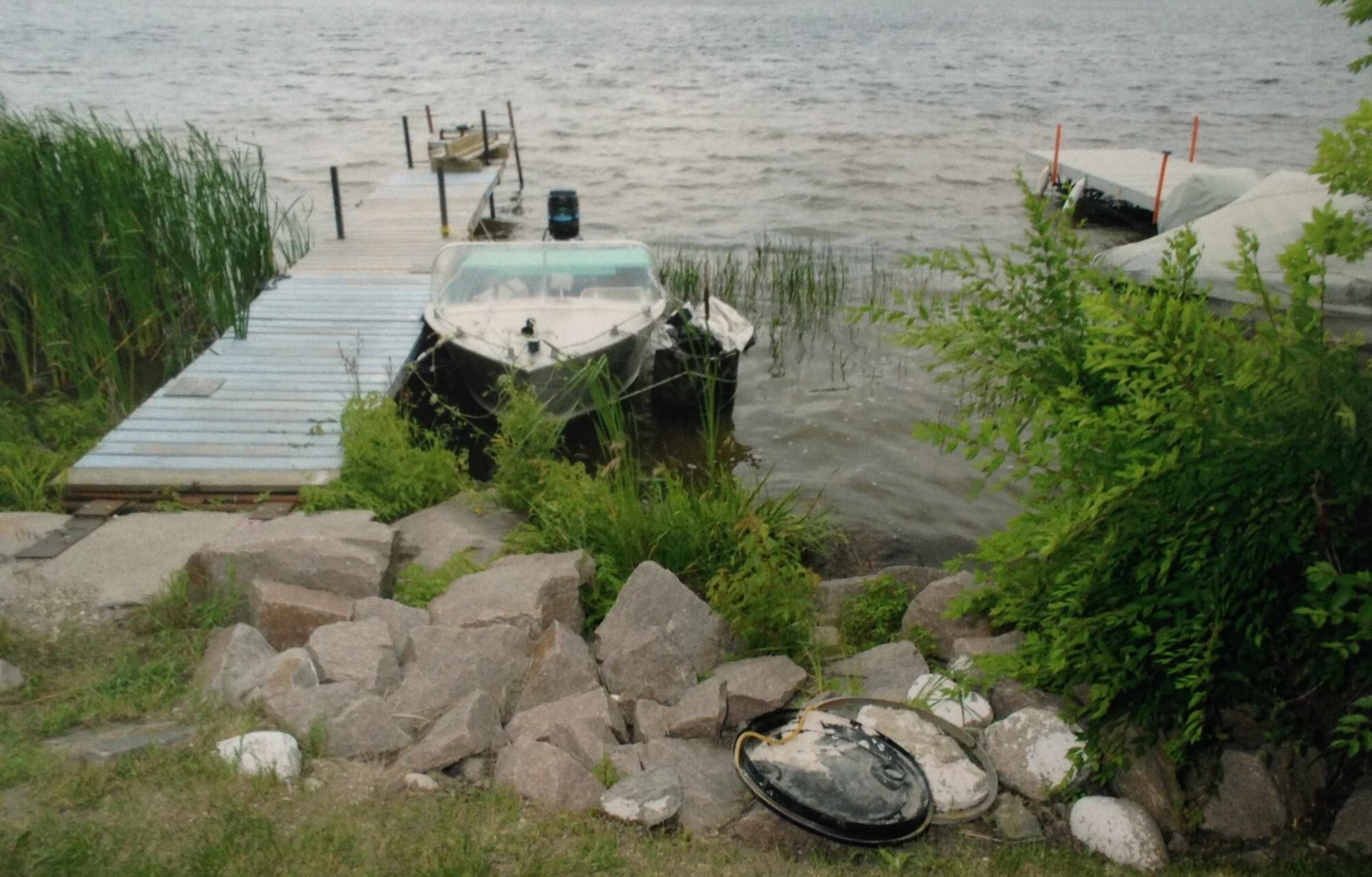The Lee River scene as RCMP found it on July 23, 2008.
