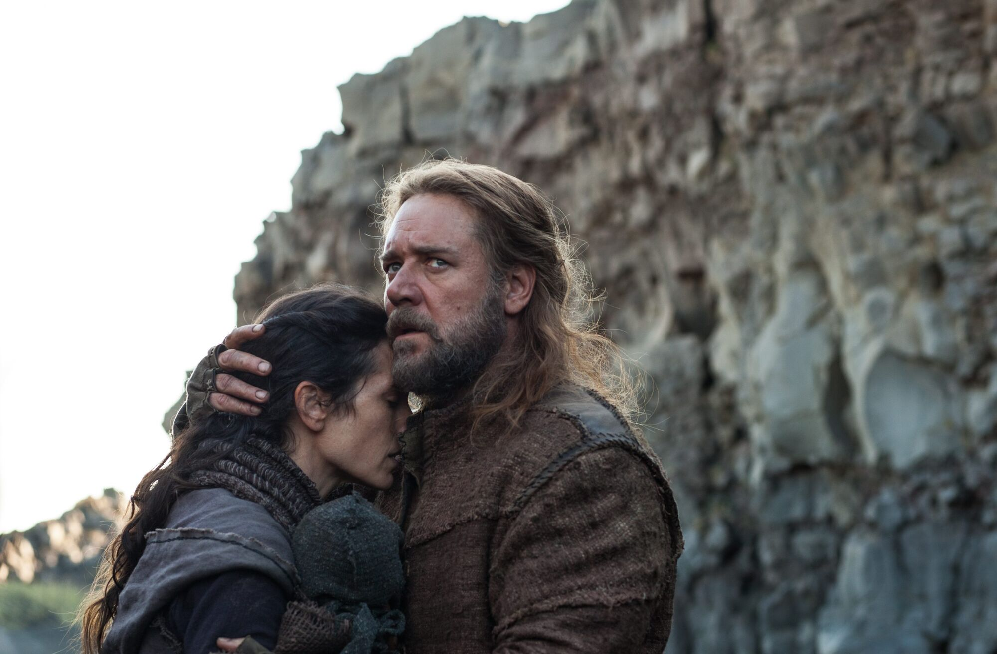 Jennifer Connelly and Russell Crowe in a scene from Noah.
