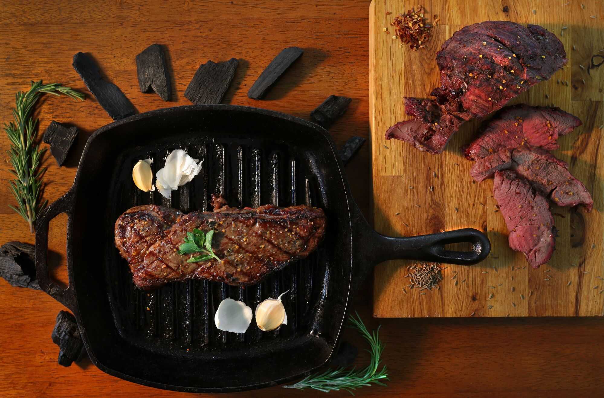 Grilling season is here. Some grilling foods for menu include Terrorized Steak and Mediterranean Lamb.