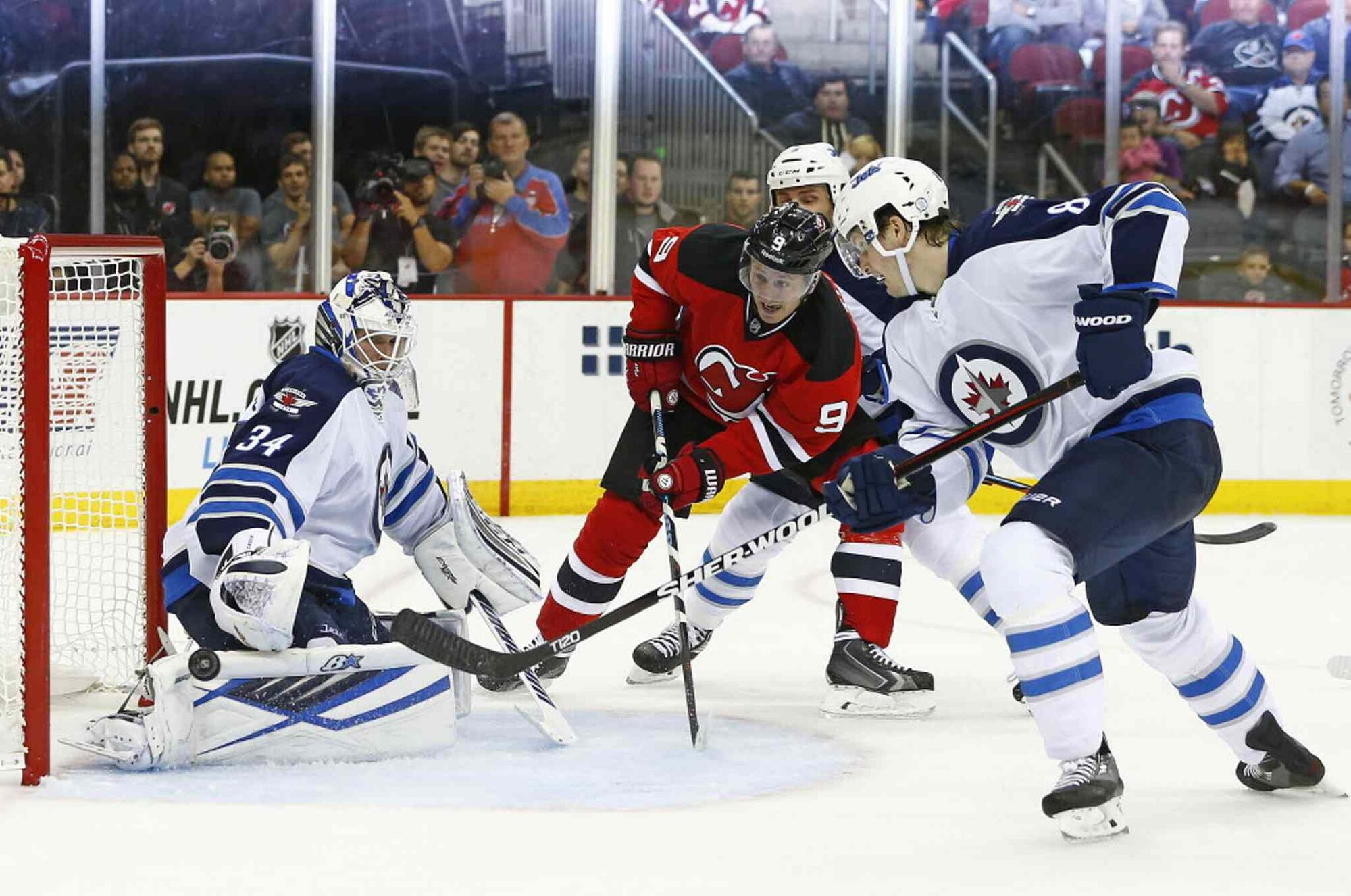 new product c8212 8ef9f Gallery: Winnipeg Jets vs. New Jersey Devils - Oct. 9, 2015 ...