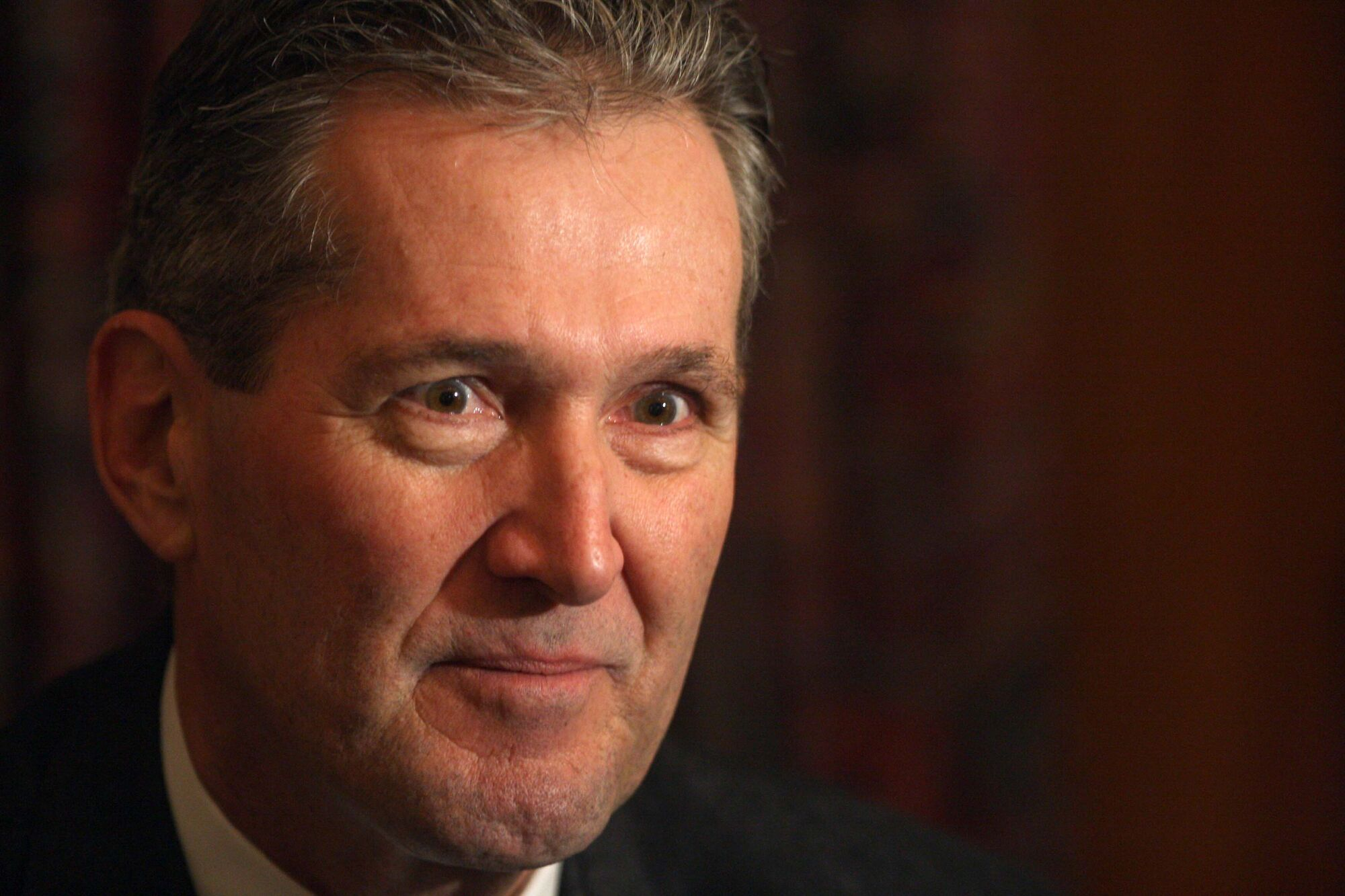 Progressive Conservative Leader Brian Pallister, shown here during an interview at the Manitoba Legislature at the end of 2014.