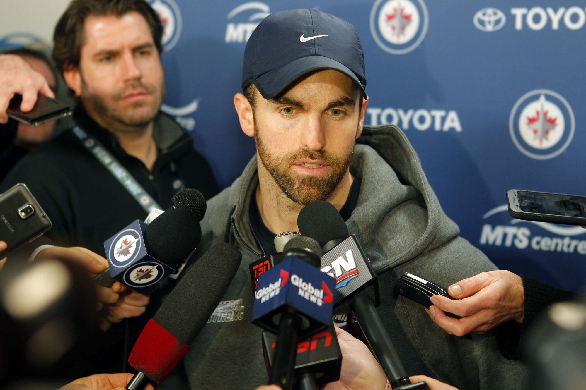 Captain Andrew Ladd said the Jets will be eager to get newcomers Tyler Myers and Drew Stafford into the lineup to do their part during the stretch run to the post-season.