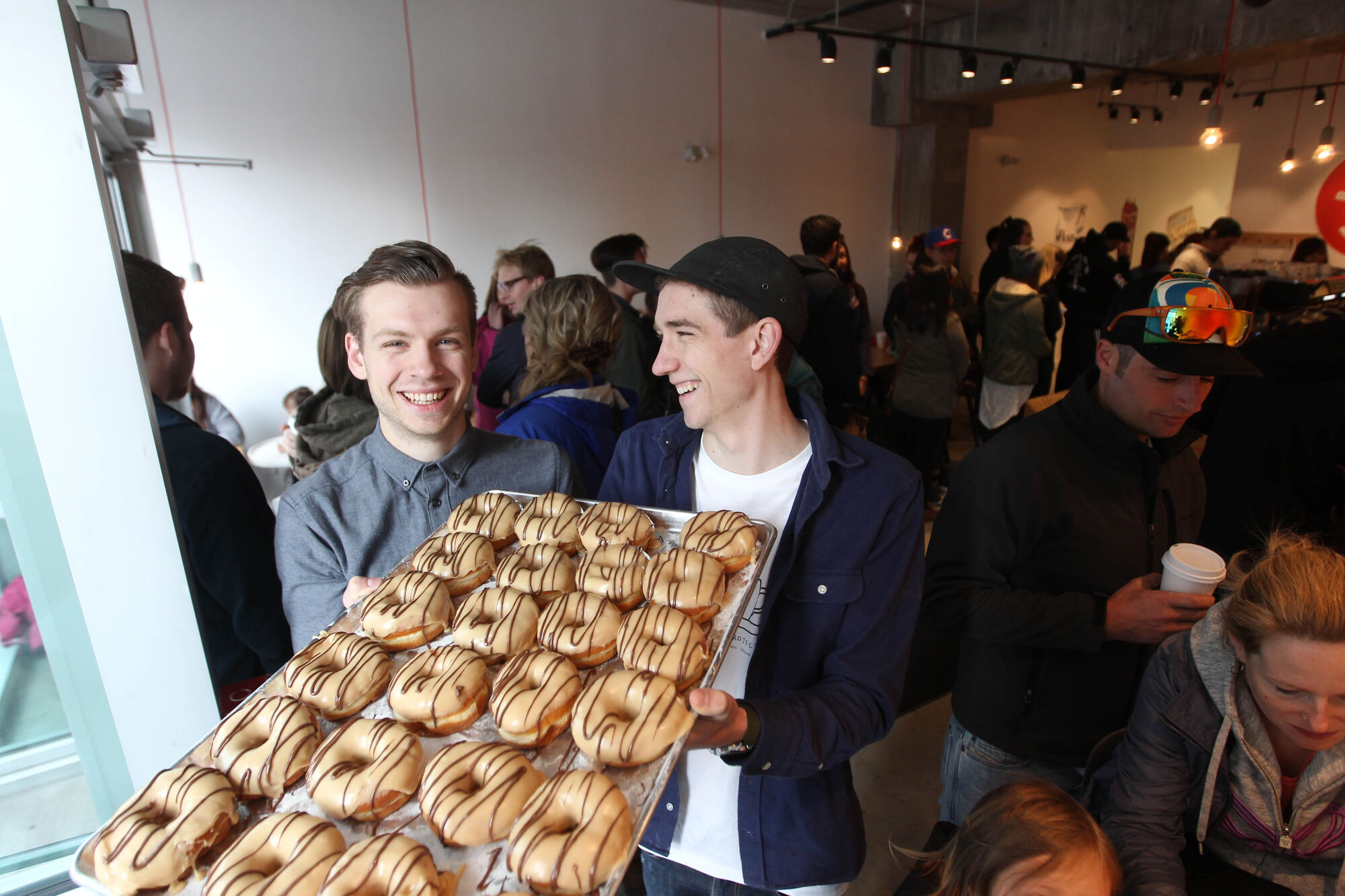 Winnipeg's first, dedicated gourmet doughnut shop owned by Brett (left) and Dylan Zahari - brothers who put the Bro in Bronuts.