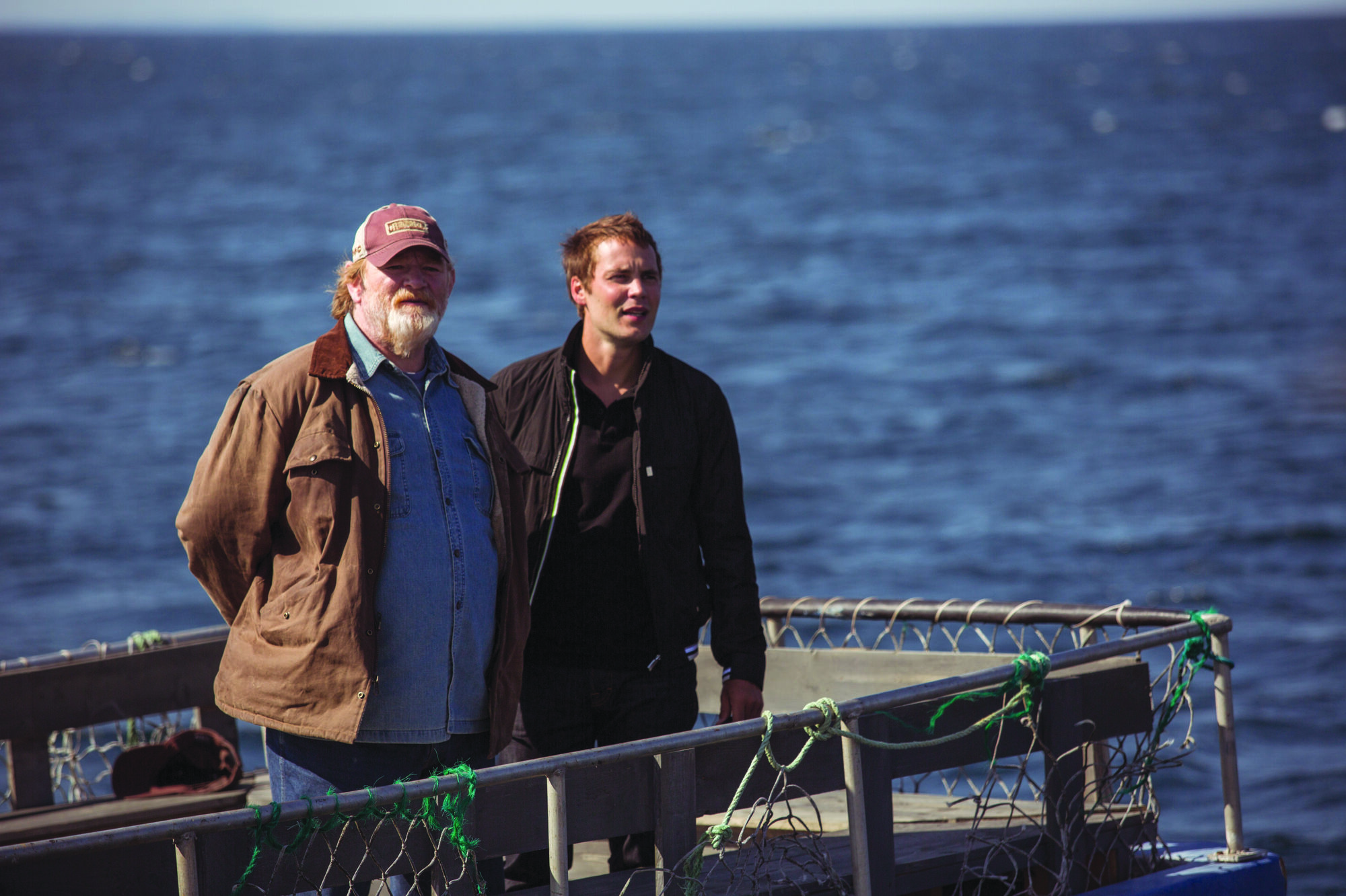 Irish actor Brendan Gleeson, left, with Taylor Kitsch, right, treads carefully when playing a Newfoundlander in Canadian comedy The Grand Seduction.