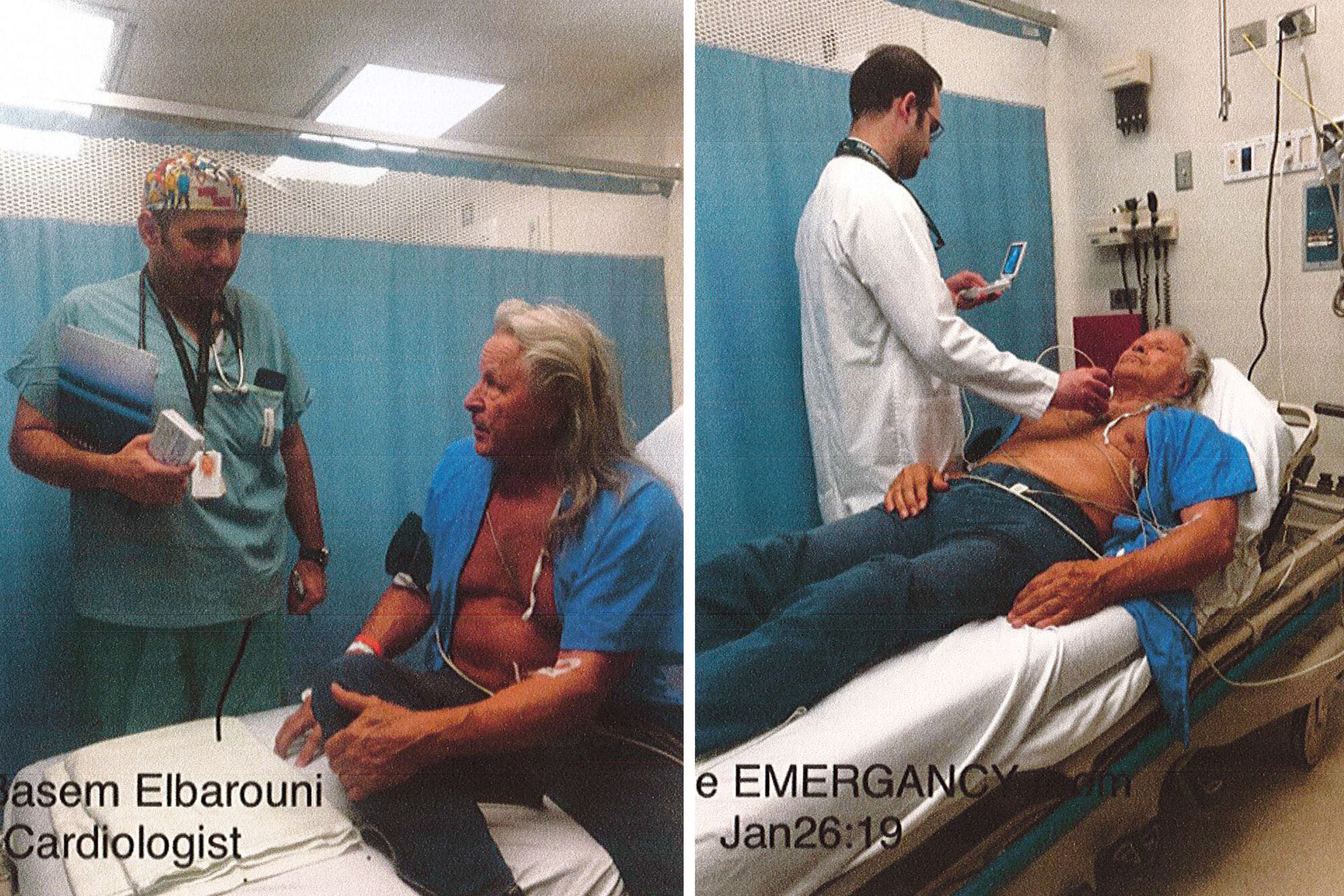 Photo exhibits submitted as part of the affidavit of Dr. Lynwood Brown in regards to Peter Nygard's health.