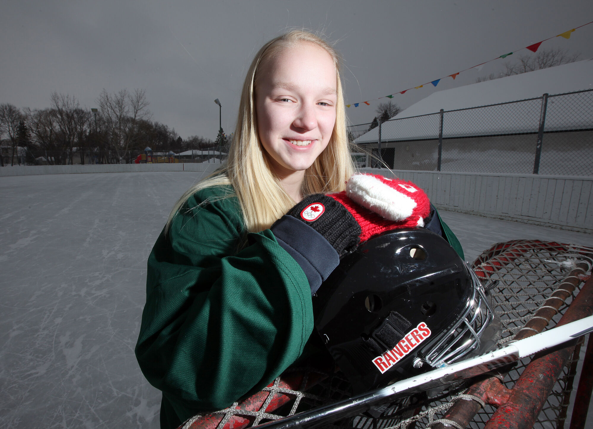 Coral Johnson, 15, got a concussion in hockey last month but has been cleared to resume play.