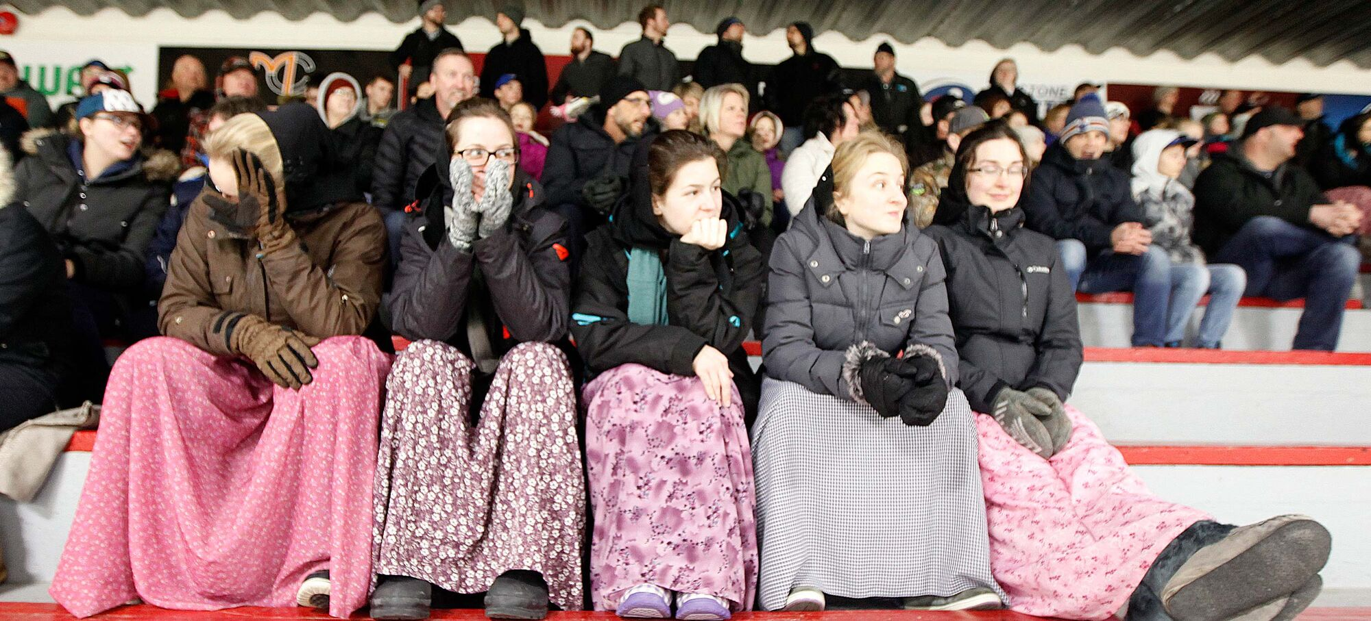 The team enjoys overwhelming support from fans, both Hutterite and outsiders alike. (Phil Hossack / Winnipeg Free Press)
