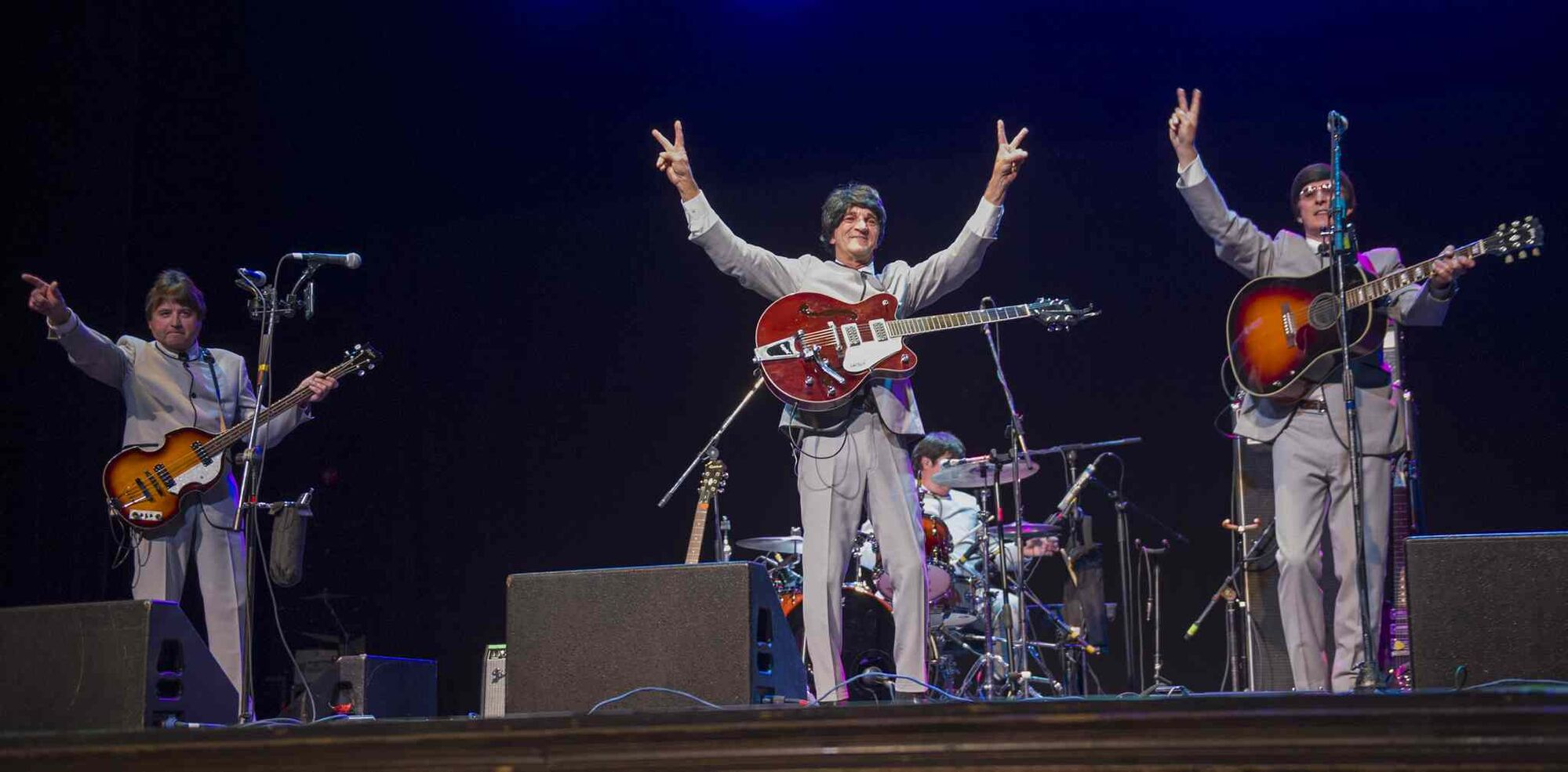 Free Ride performs at the Concert for Peace, recognizing the International Day of Peace, Saturday night at the Burton Cummings Theatre. (DAVID LIPNOWSKI / WINNIPEG FREE PRESS)