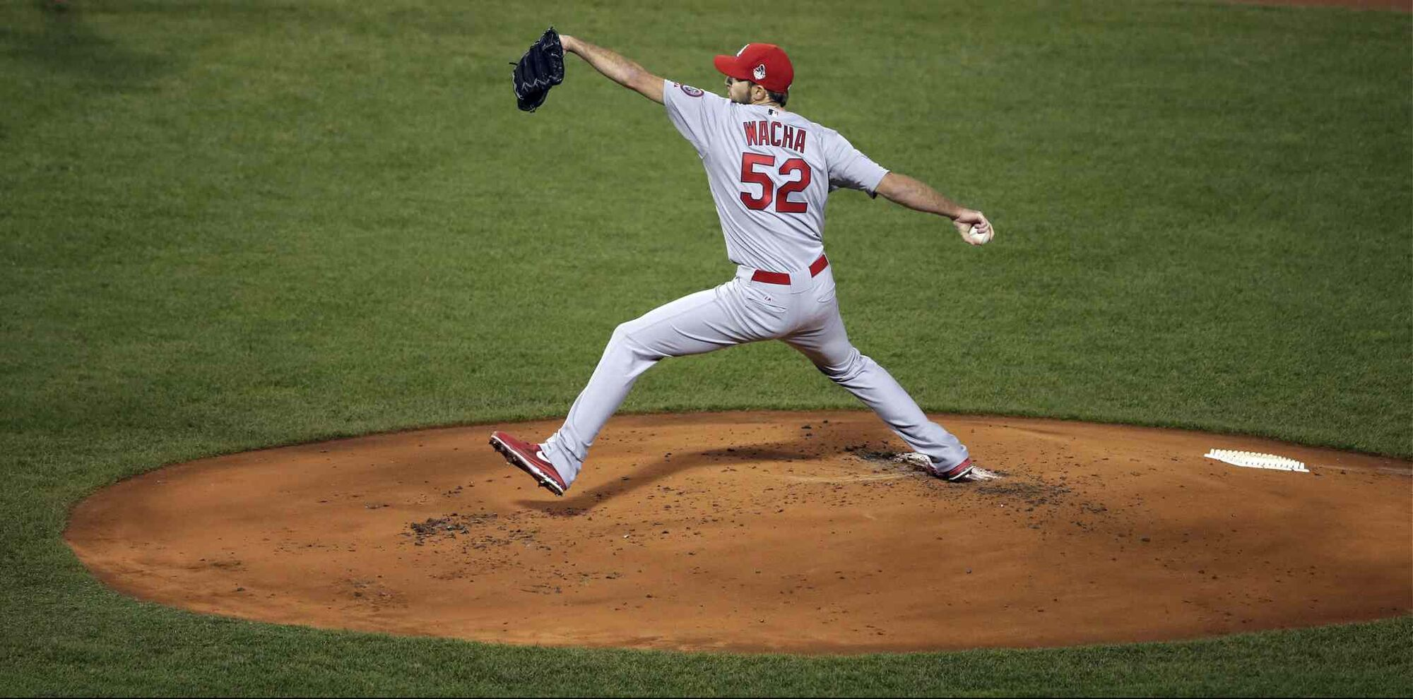 St. Louis Cardinals starting pitcher Michael Wacha throws during the first inning. (Chris Carlson / The Associated Press)