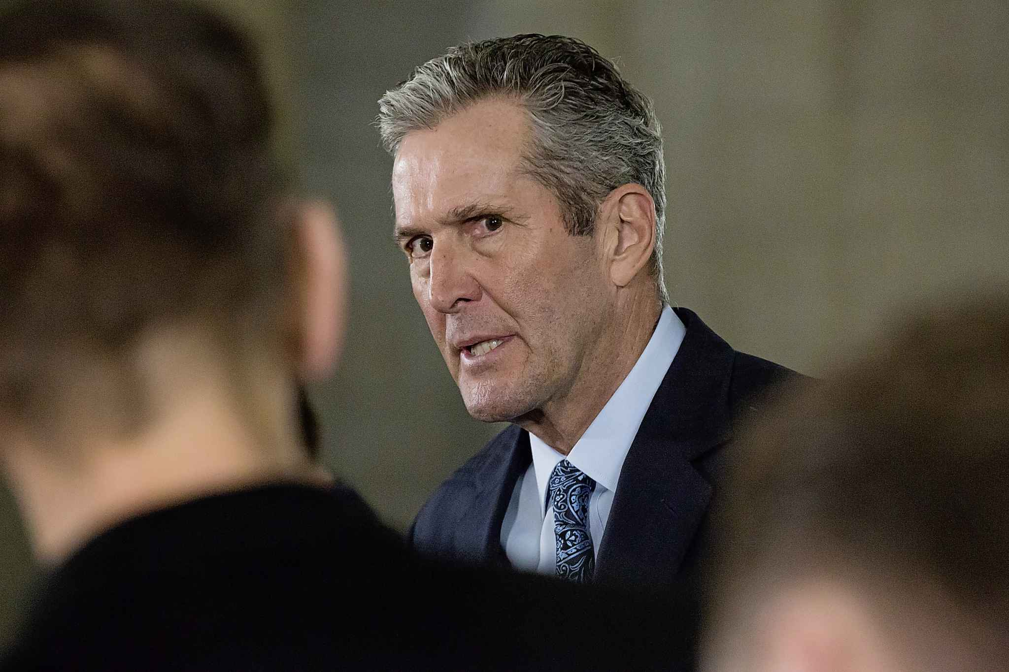 """I'm not proposing to act unilaterally. I want to be very clear on that,"" Premier Brian Pallister said Wednesday. (Mike Deal / Winnipeg Free Press)"