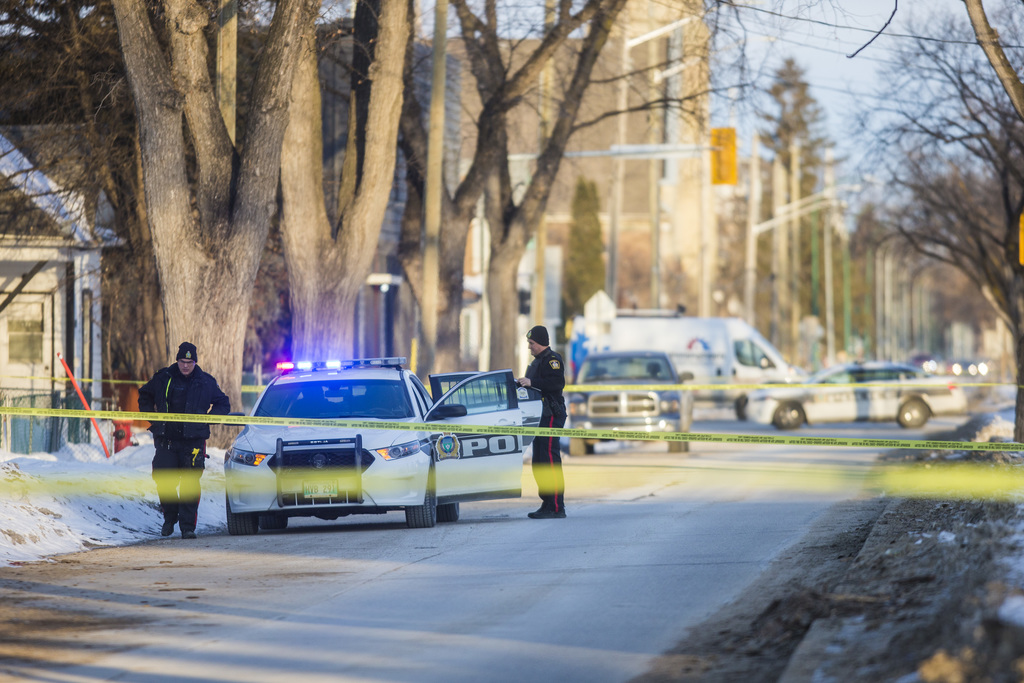 Burrows Avenue was closed all day Thursday as police investigated the death of cab driver Balvir Toor. (Mikaela MacKenzie / Winnipeg Free Press)