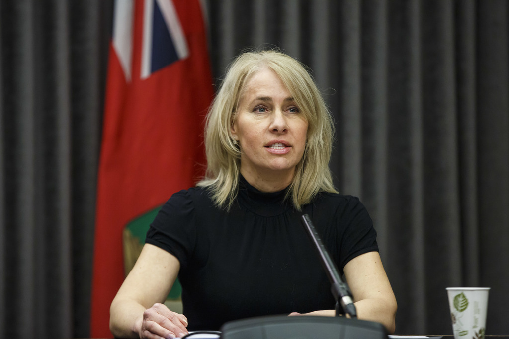 Lanette Siragusa, chief nursing officer for Shared Health, says the new protocols will ensure the province has PPE available for high-risk situations. (Mike Deal / Winnipeg Free Press)